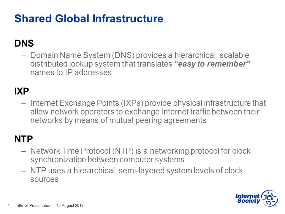 Shared Global Infrastructure