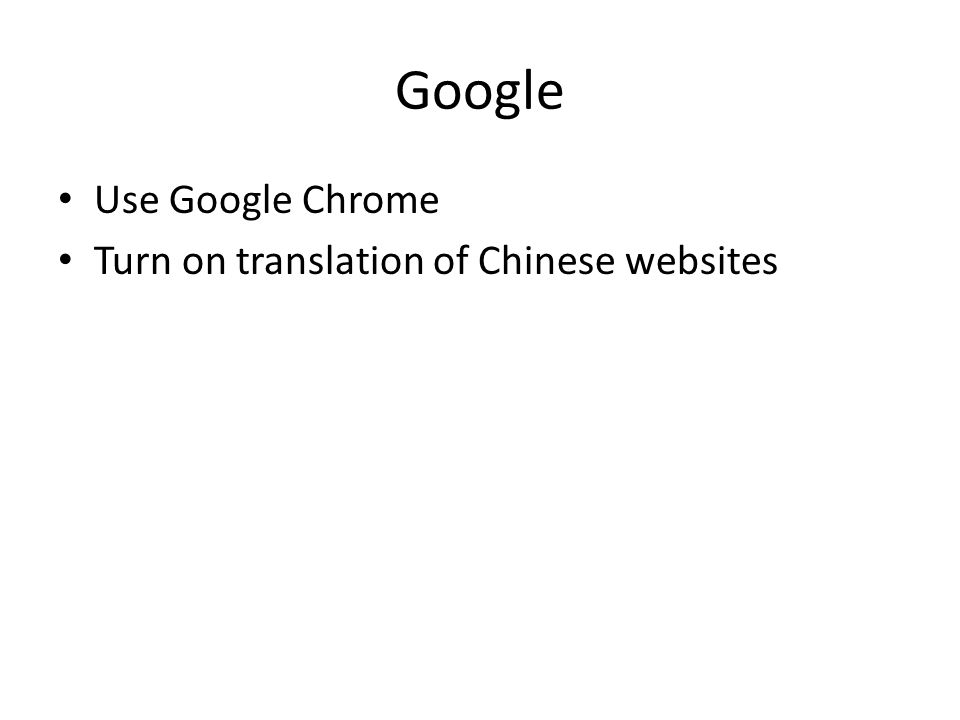 Google Use Google Chrome Turn on translation of Chinese websites