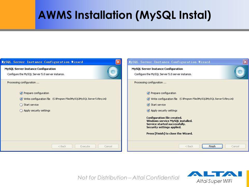 AWMS Installation (MySQL Instal)