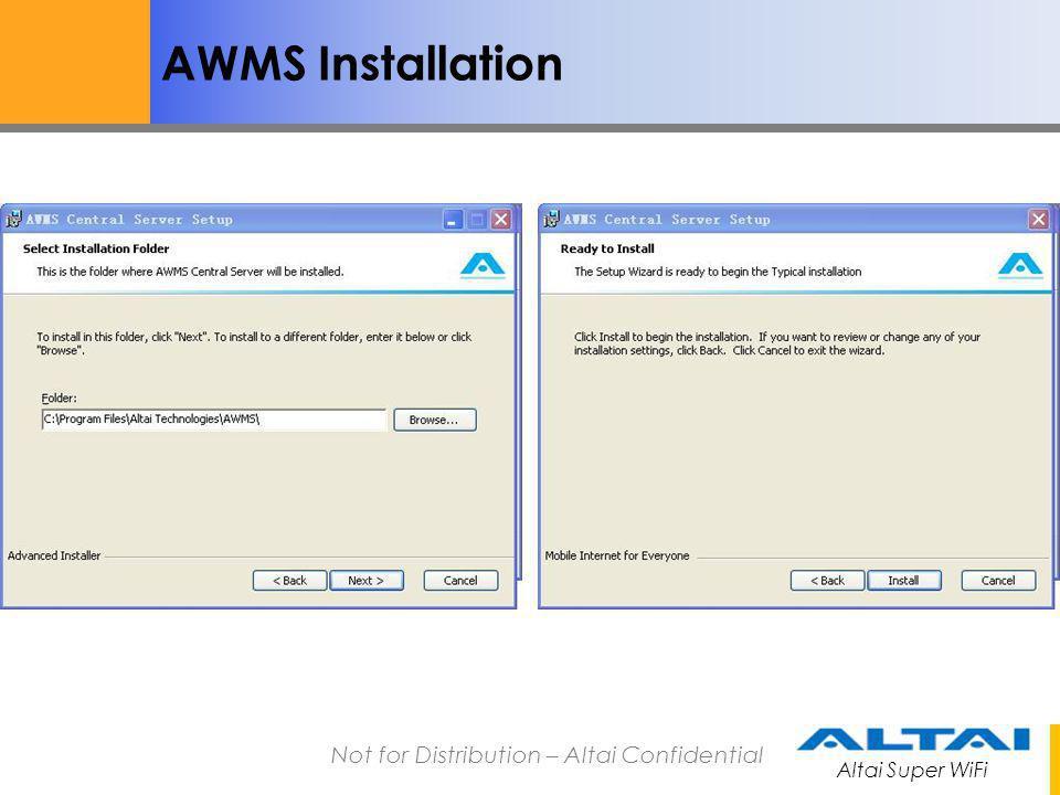 AWMS Installation