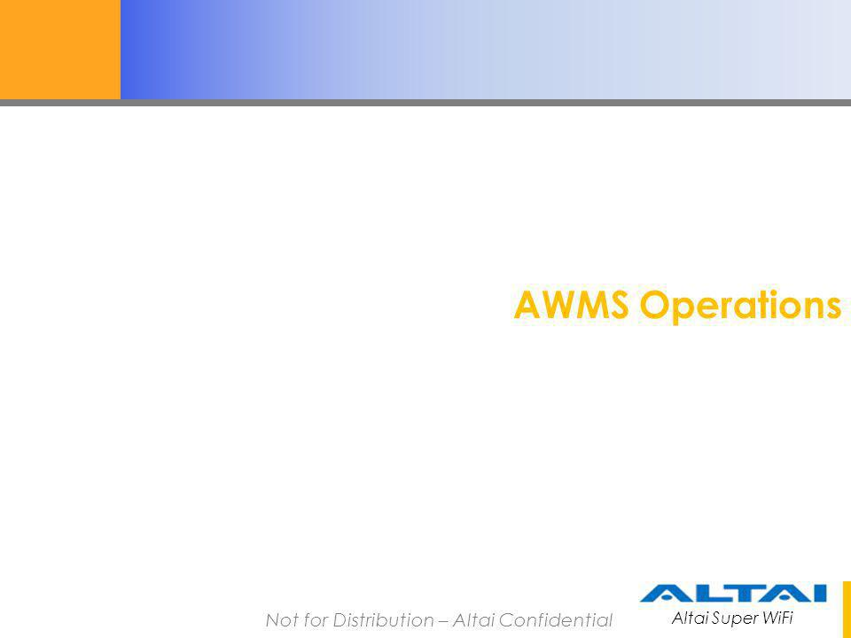 AWMS Operations