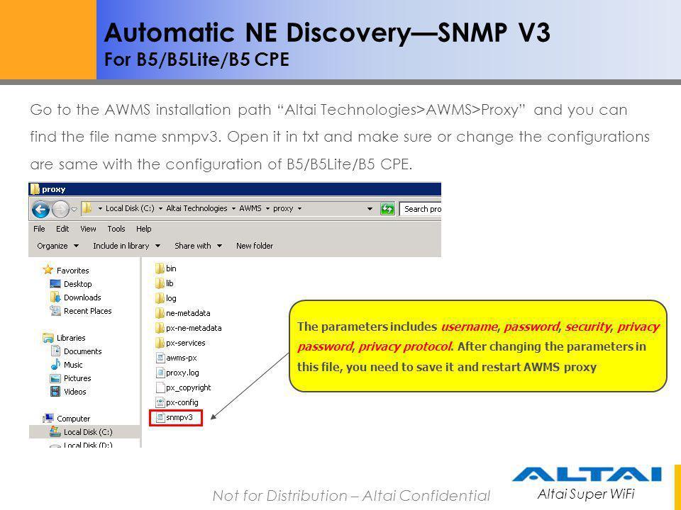 Automatic NE Discovery—SNMP V3