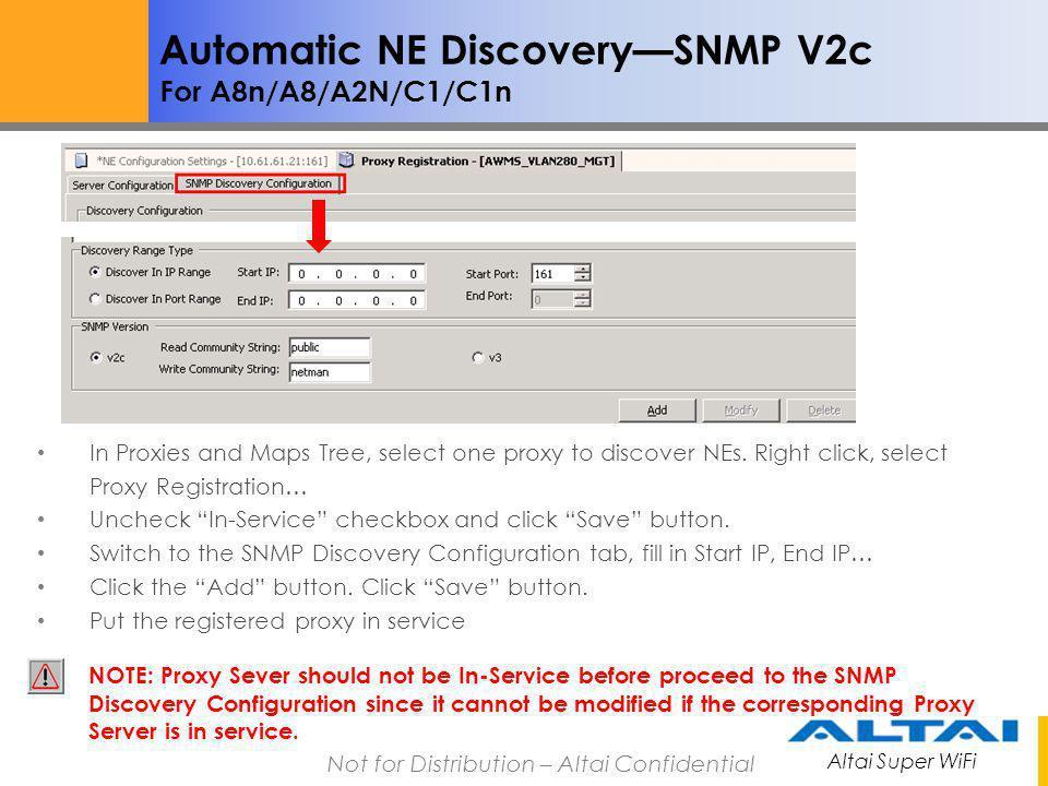 Automatic NE Discovery—SNMP V2c