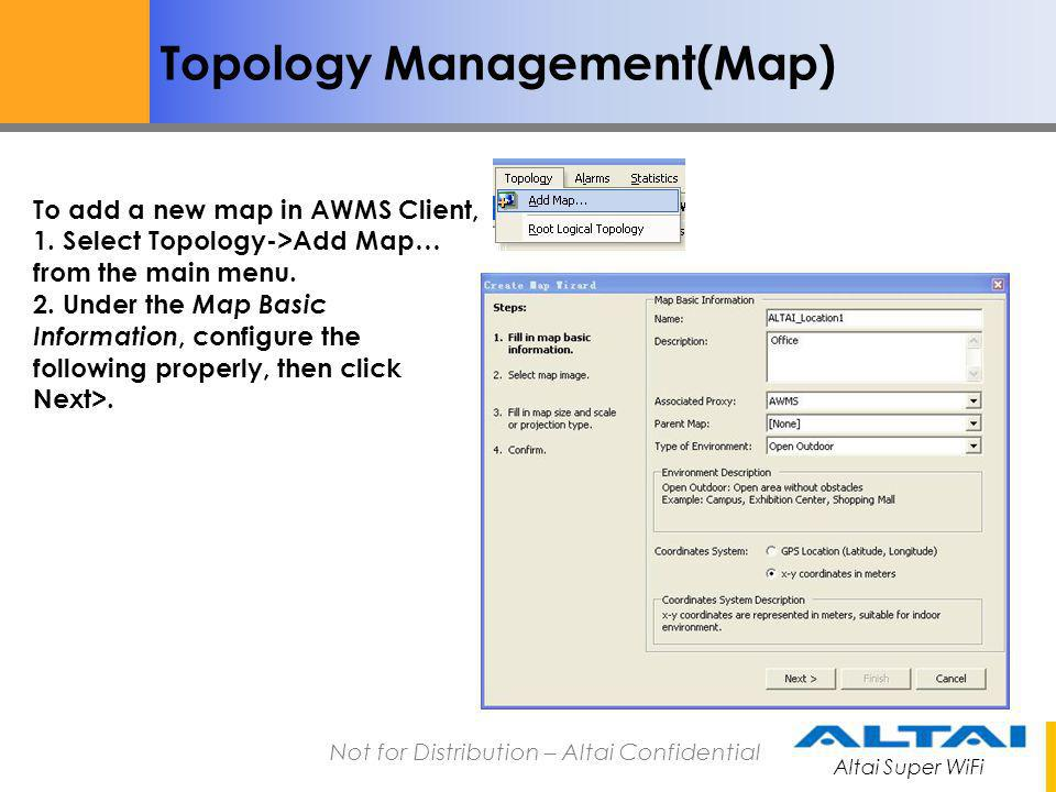 Topology Management(Map)