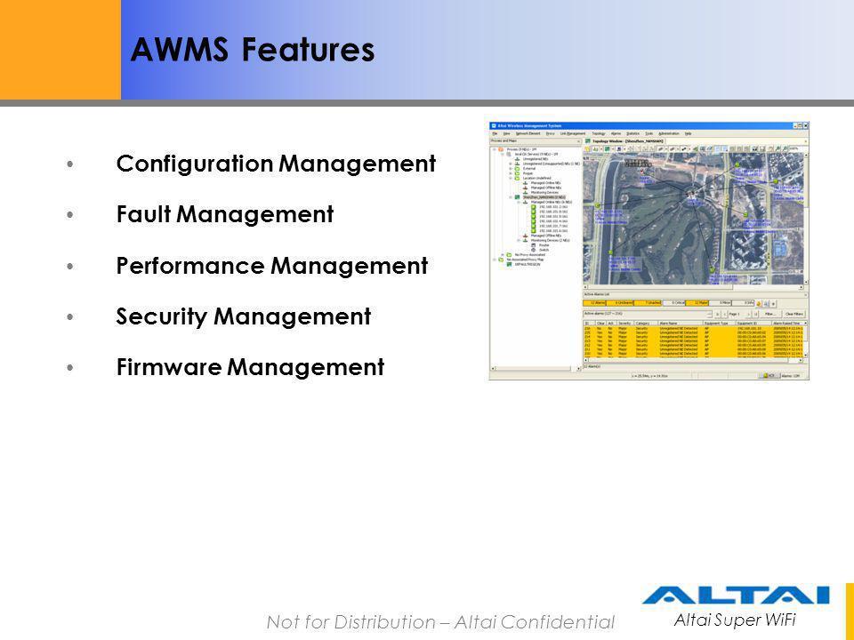 AWMS Features Configuration Management Fault Management