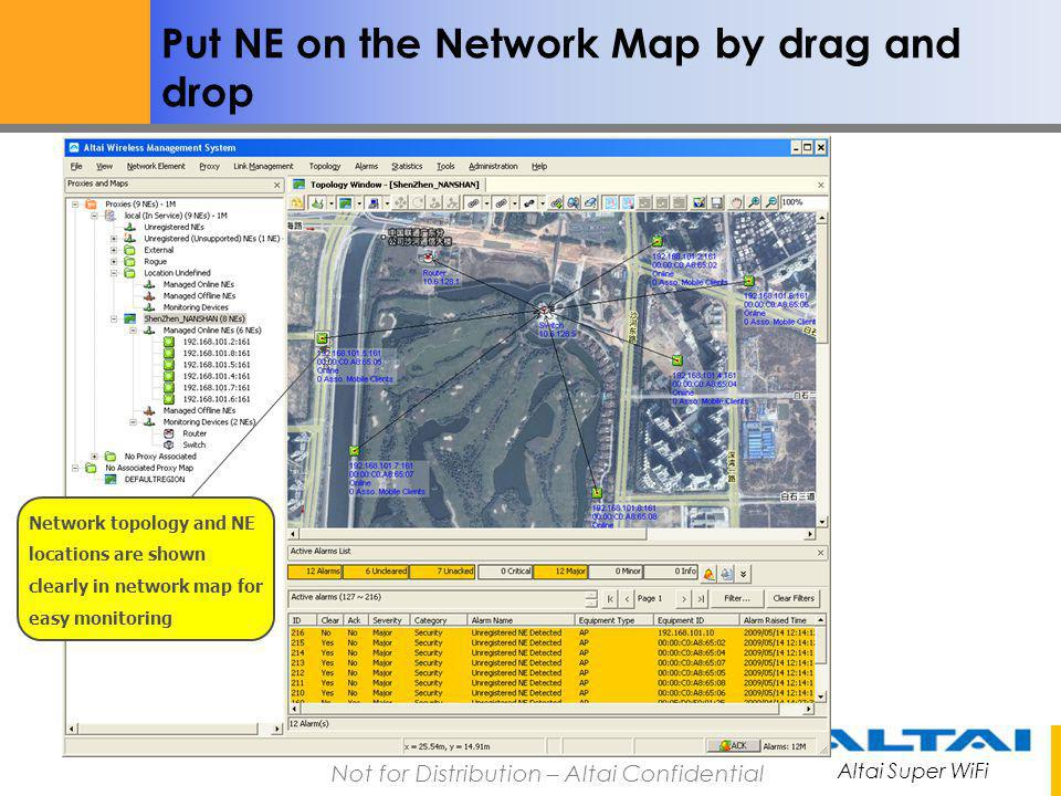 Put NE on the Network Map by drag and drop