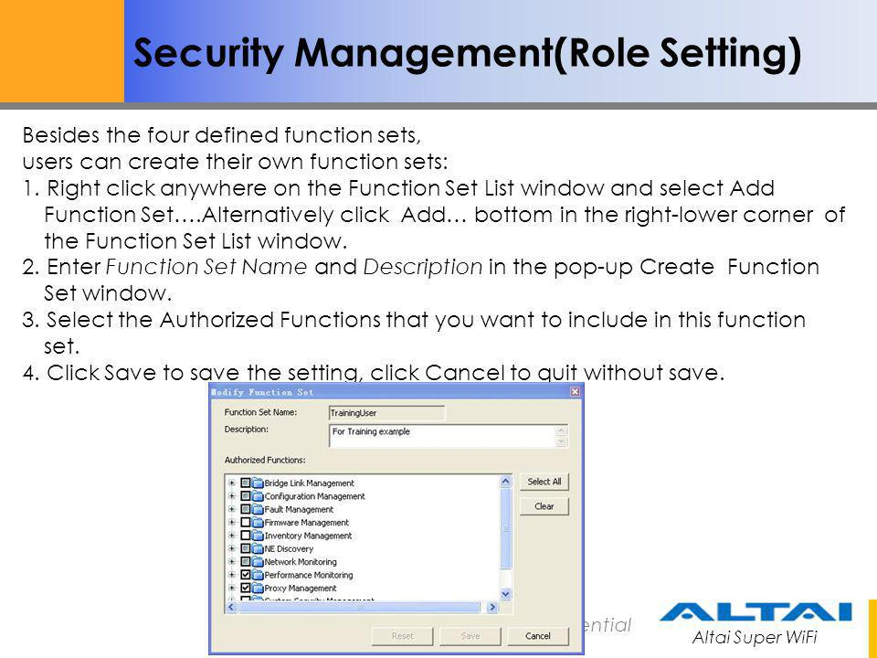 Security Management(Role Setting)