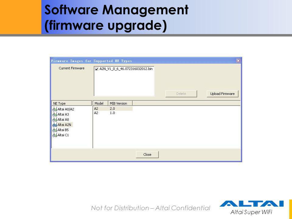 Software Management (firmware upgrade)
