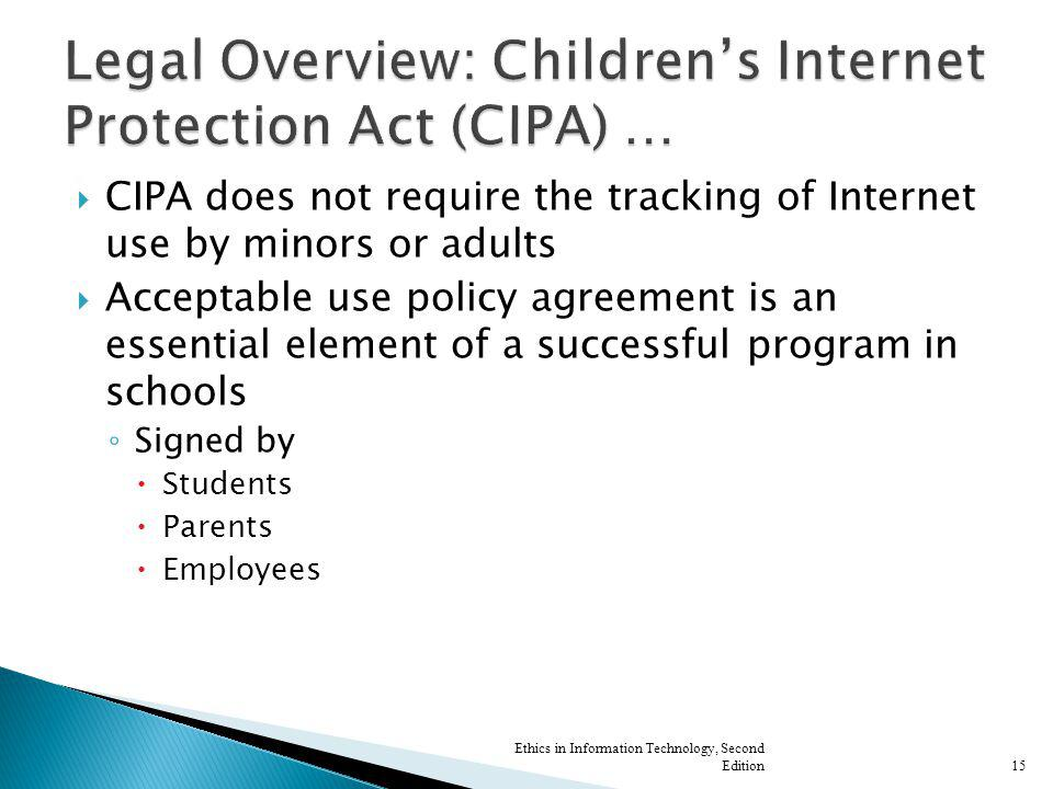 Legal Overview: Children's Internet Protection Act (CIPA) …