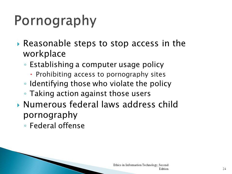 Pornography Reasonable steps to stop access in the workplace