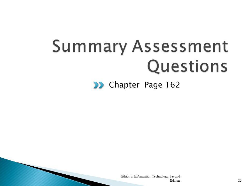 Summary Assessment Questions