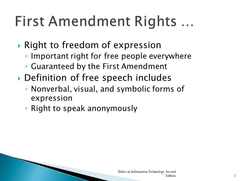 First Amendment Rights …