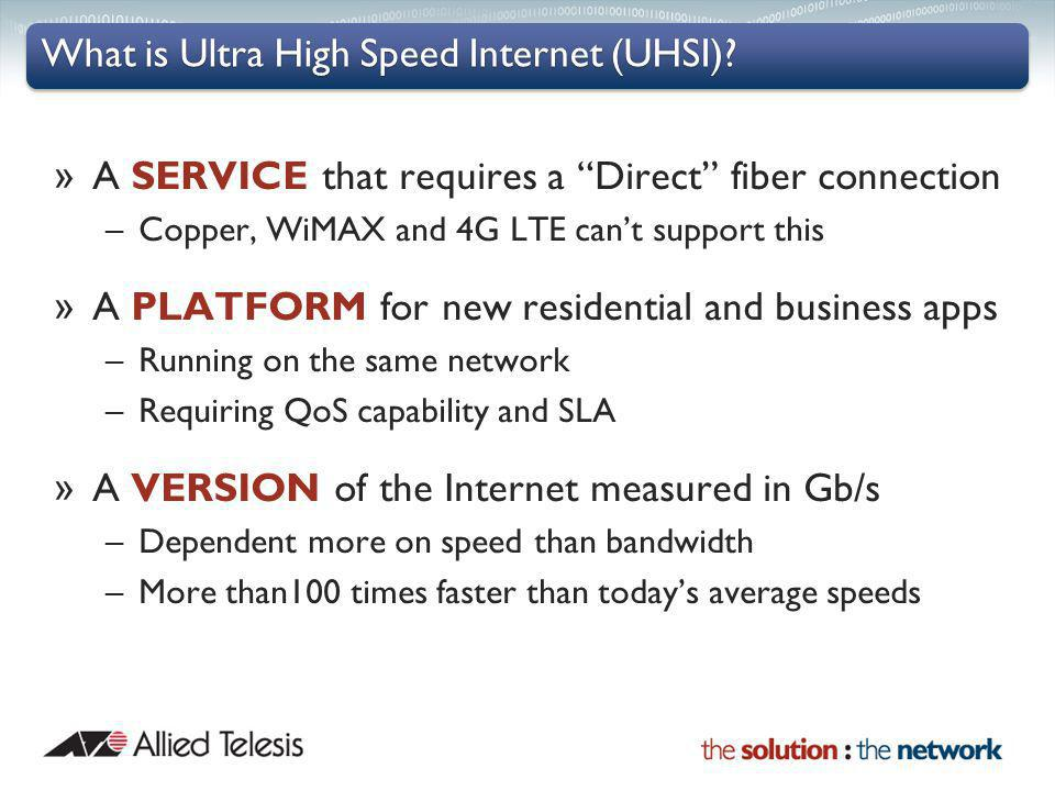 What is Ultra High Speed Internet (UHSI)