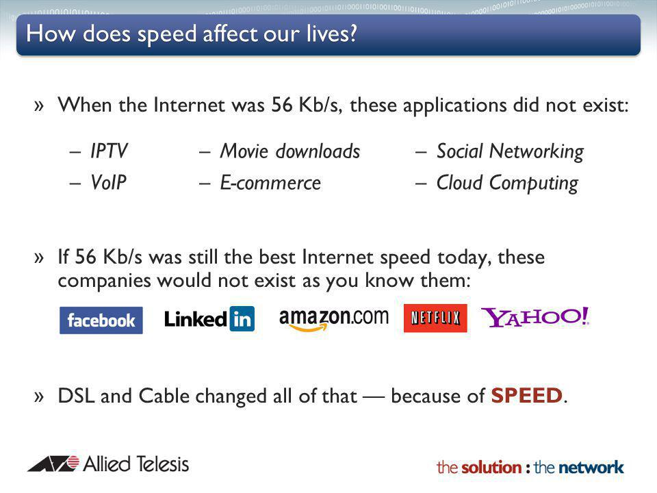 How does speed affect our lives