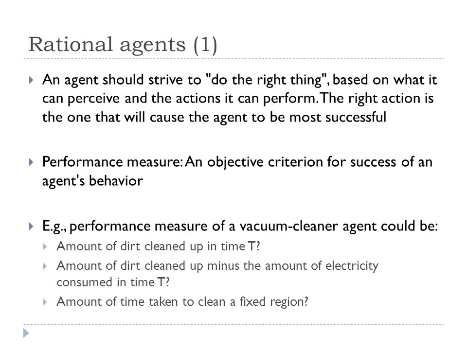 Rational agents (1)