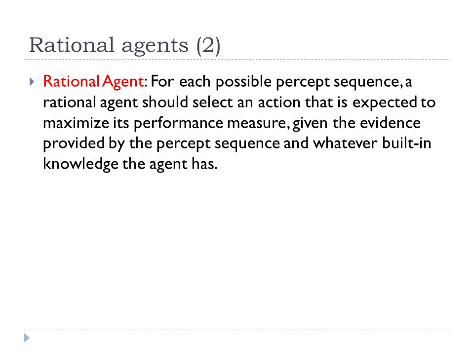 Rational agents (2)