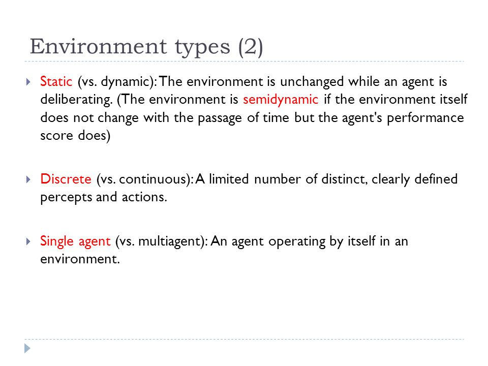 Environment types (2)