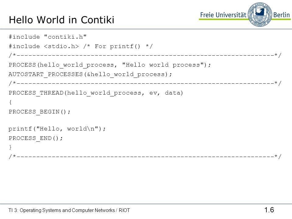 Hello World in Contiki