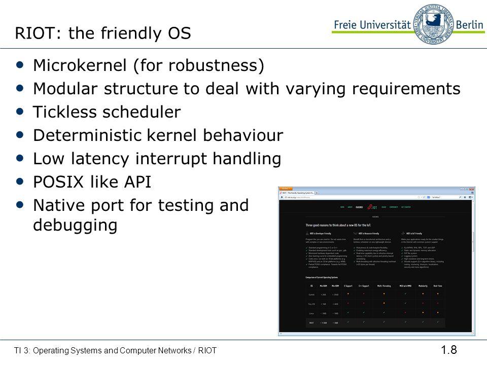 Microkernel (for robustness)
