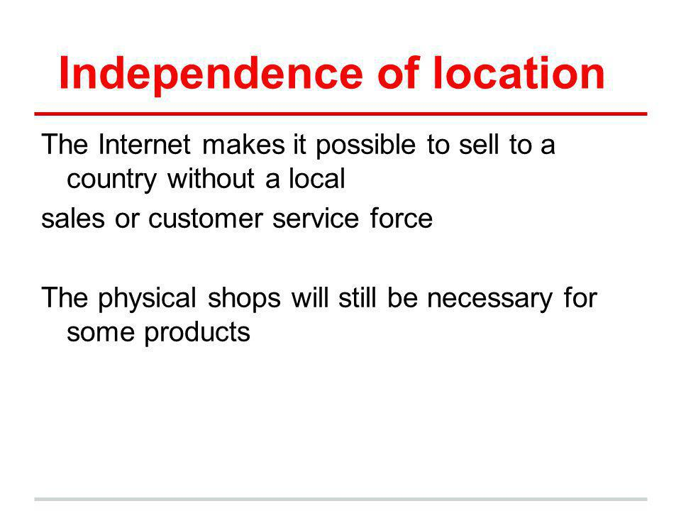 Independence of location