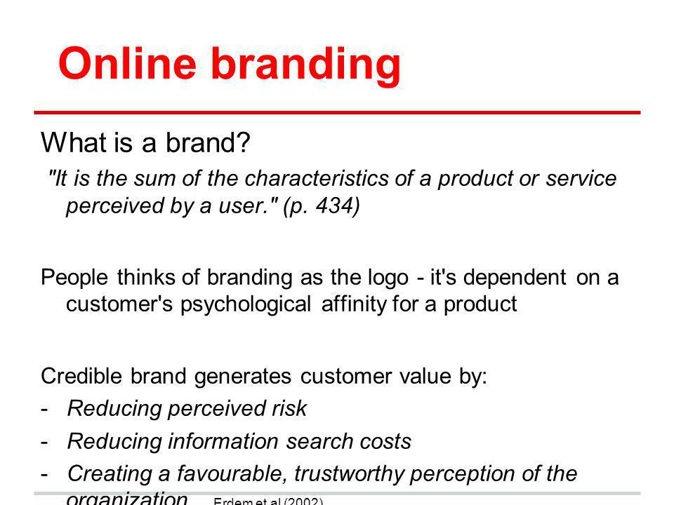Online branding What is a brand