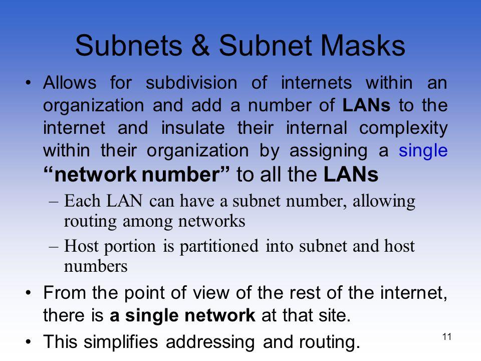 Subnets & Subnet Masks