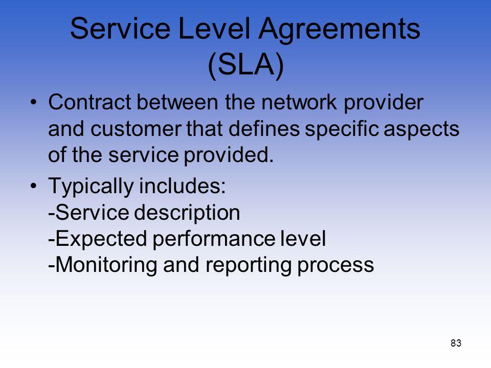 Service Level Agreements (SLA)