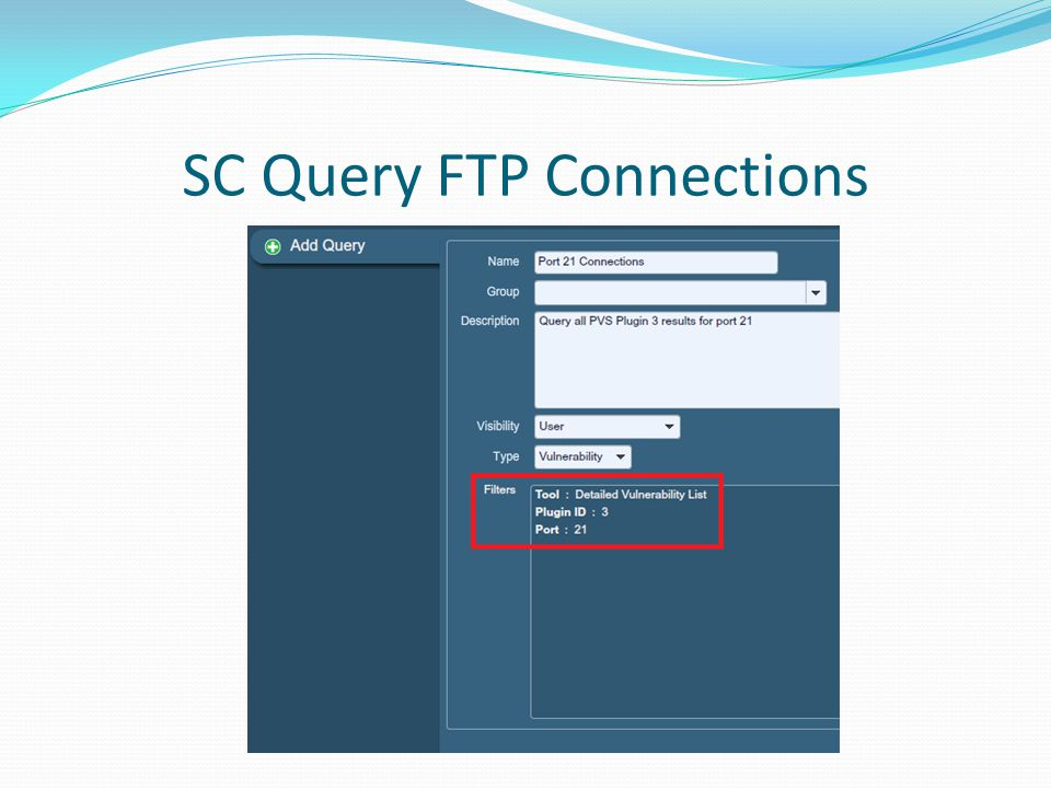 SC Query FTP Connections