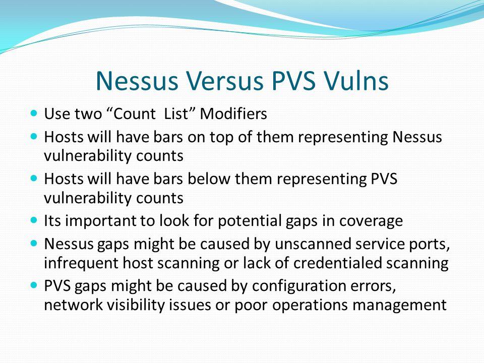 Nessus Versus PVS Vulns