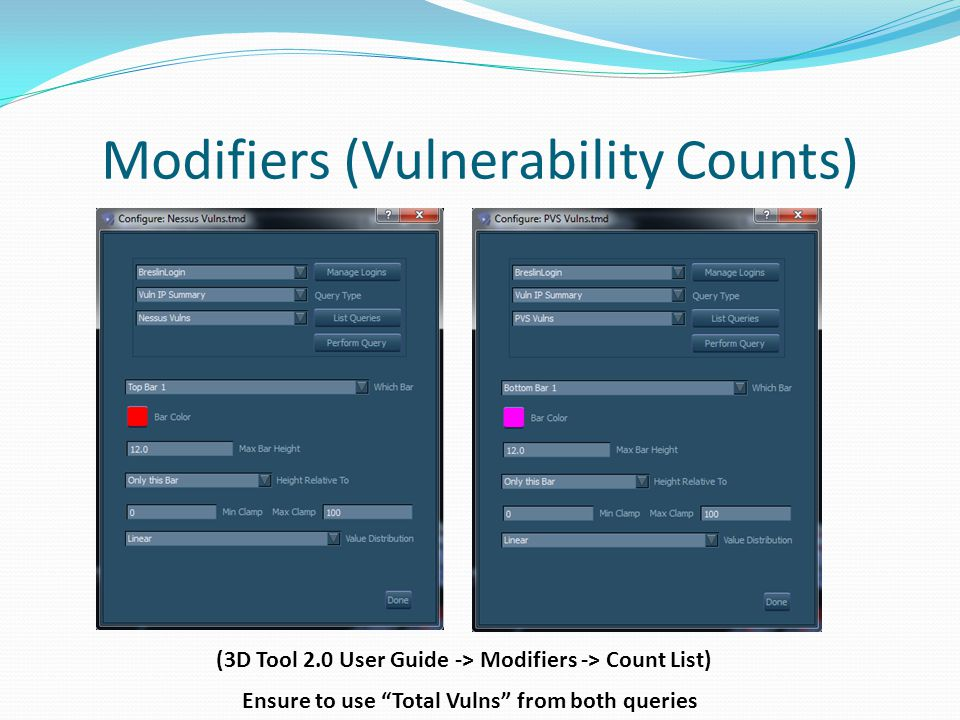 Modifiers (Vulnerability Counts)