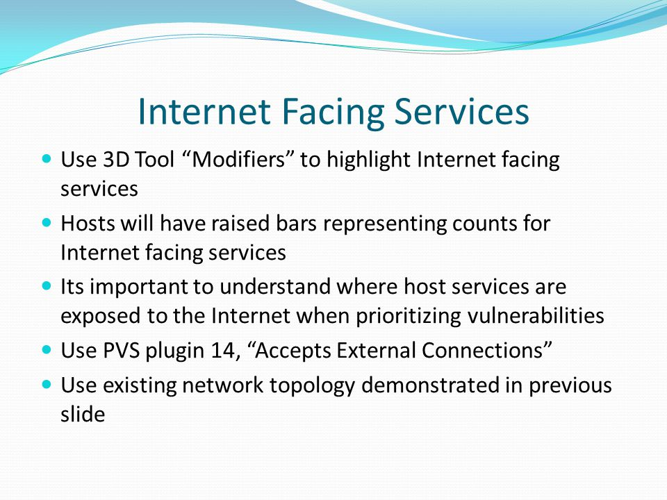 Internet Facing Services