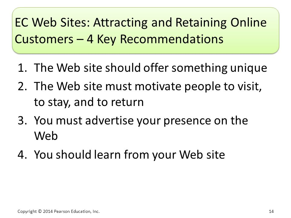 EC Web Sites: Attracting and Retaining Online Customers – 4 Key Recommendations