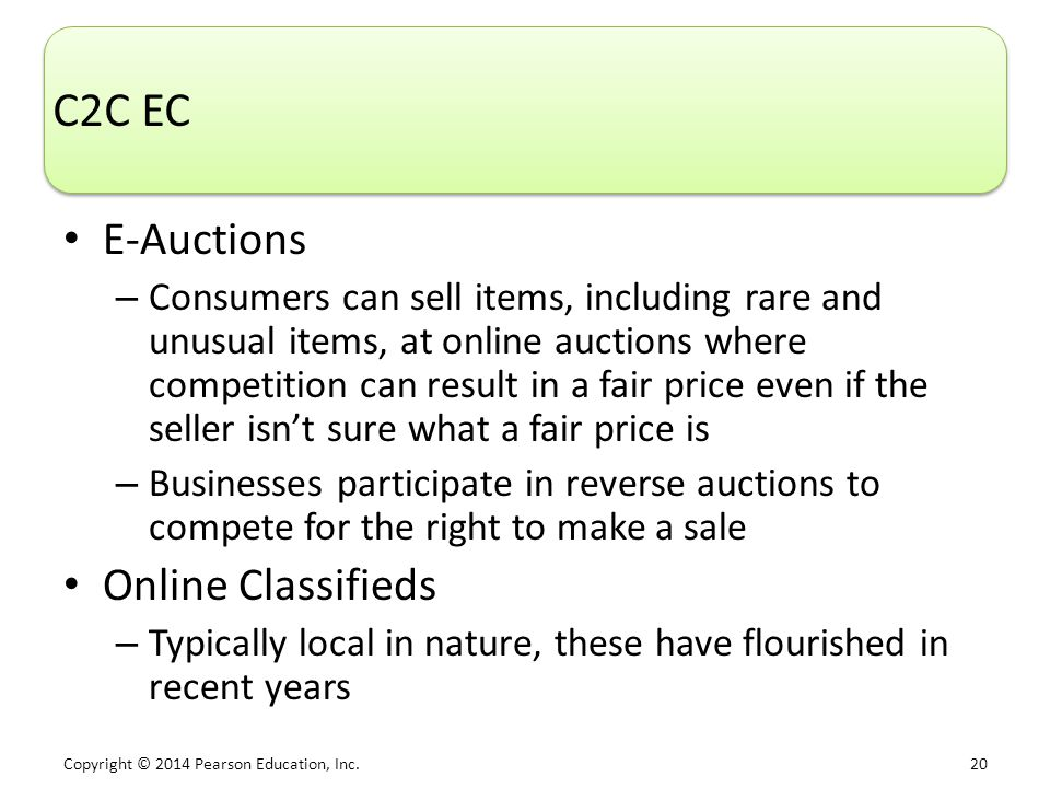 C2C EC E-Auctions Online Classifieds