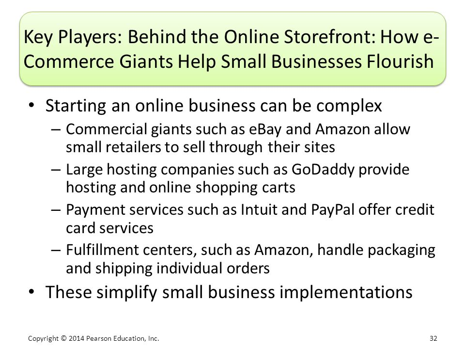 Key Players: Behind the Online Storefront: How e-Commerce Giants Help Small Businesses Flourish