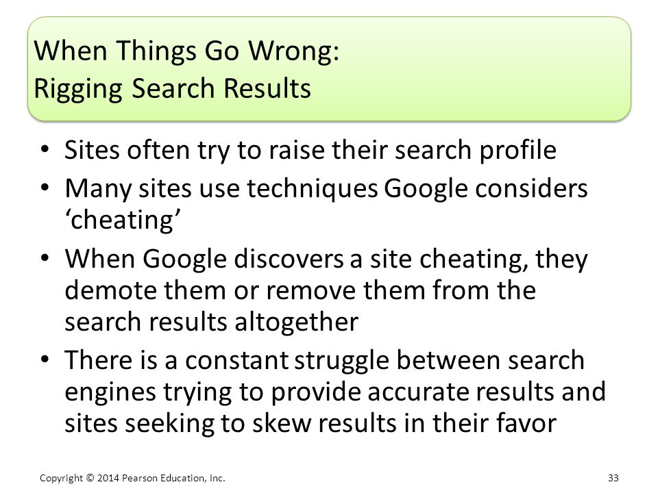 When Things Go Wrong: Rigging Search Results