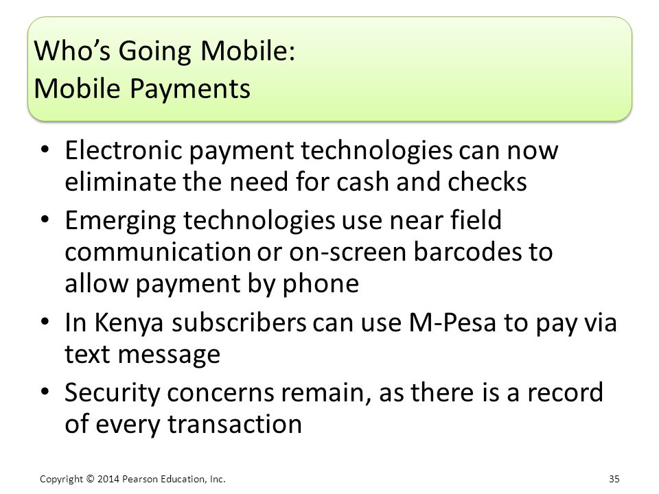 Who's Going Mobile: Mobile Payments