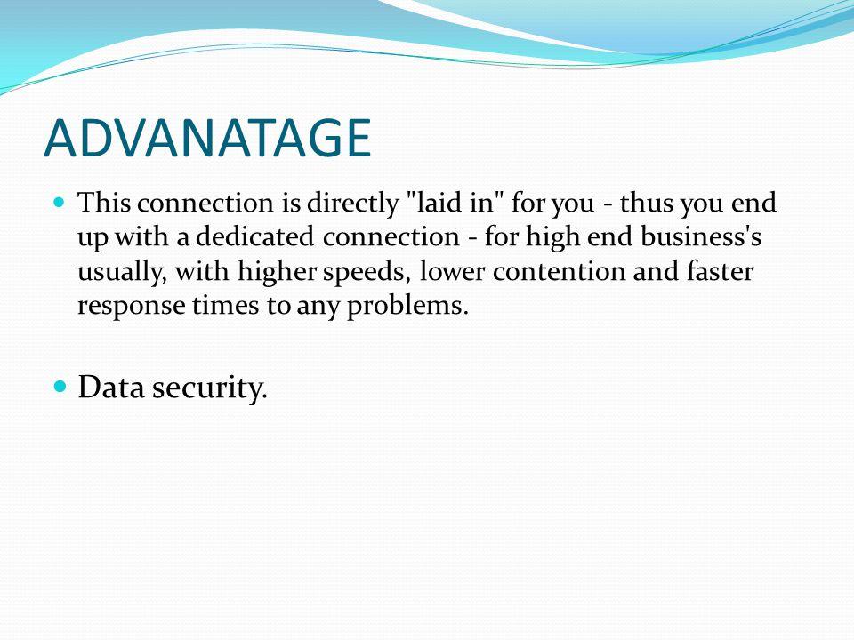 ADVANATAGE Data security.