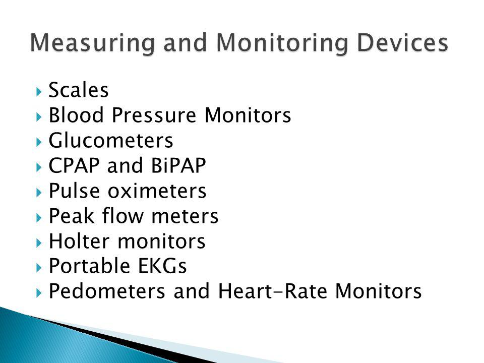 Measuring and Monitoring Devices