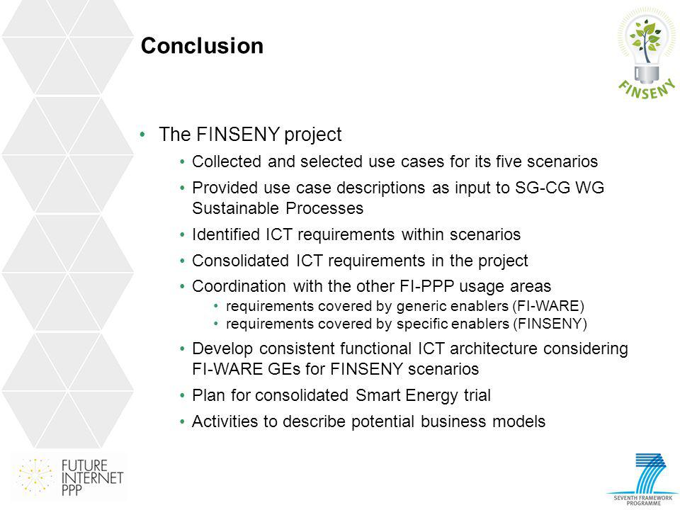 Conclusion The FINSENY project