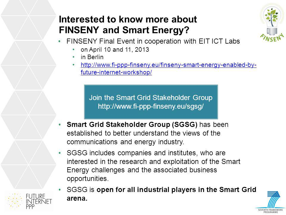 Interested to know more about FINSENY and Smart Energy