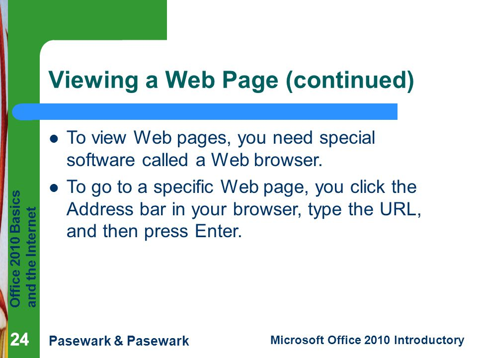 Viewing a Web Page (continued)