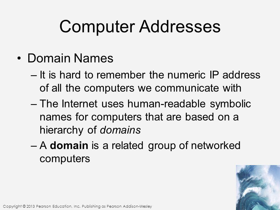 Computer Addresses Domain Names