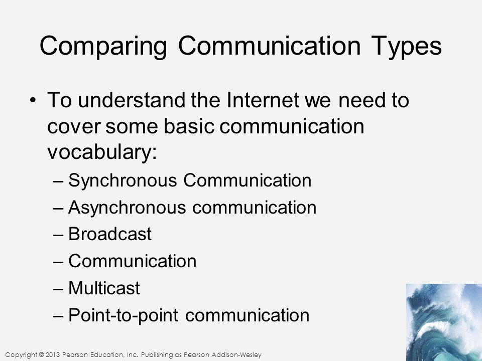 Comparing Communication Types