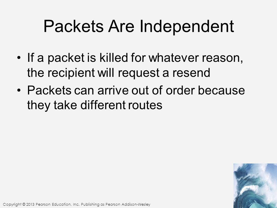 Packets Are Independent