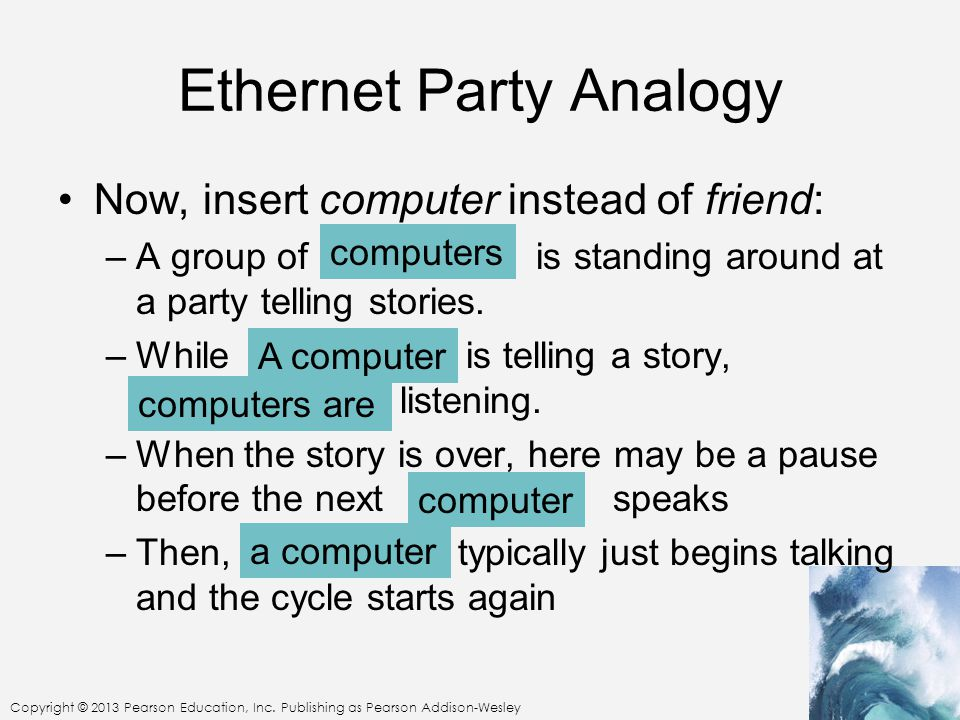 Ethernet Party Analogy