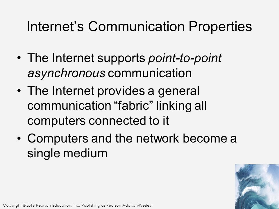 Internet's Communication Properties