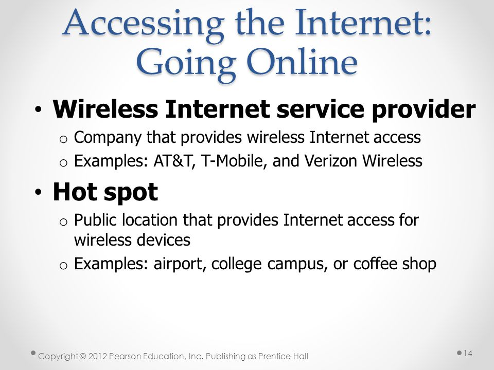 Accessing the Internet: Going Online