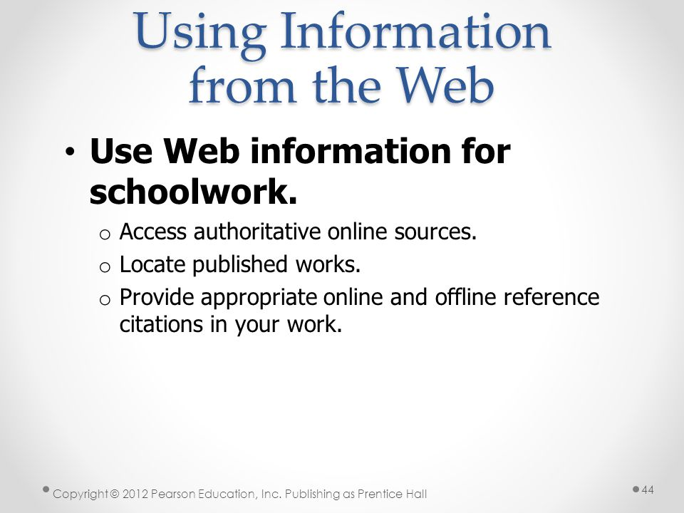 Using Information from the Web