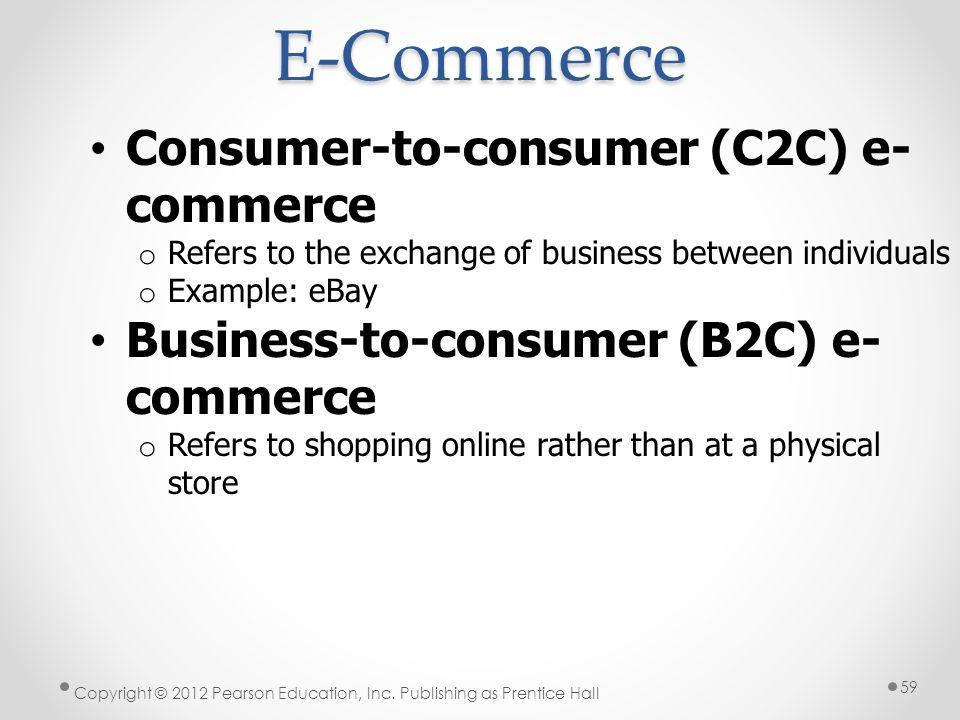 E-Commerce Consumer-to-consumer (C2C) e-commerce
