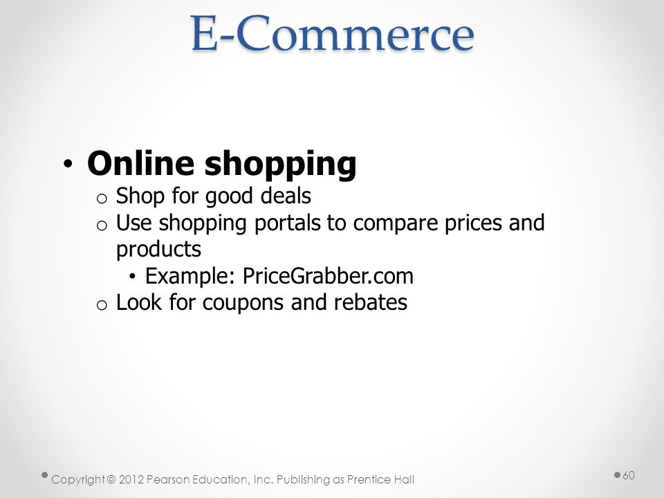 E-Commerce Online shopping Shop for good deals